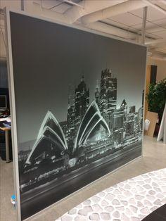 Huurreteipille tulostettu kuva, valo kuultaa läpi.