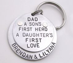 Personalized Dad Keychain Personalized by ReginaLynnDesign