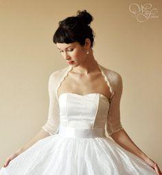 BRIDAL SHRUG Licht Hochzeit Bolero Mohaireinfach von WhiteFashion, $65.00