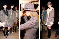 tommy hilfiger houndstooth new york fashion week fall 2013  Love the Glenn Plaid!
