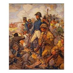 Andrew Jackson during the Battle of New Orleans, pub. 1922 (colour litho), Yohn, Frederick Coffay (after) / Private Collection / The Stapleton Collection / Bridgeman Images American Revolutionary War, American War, American History, British American, American Presidents, British Army, Andrew Jackson, New Orleans History, Battle Of New Orleans