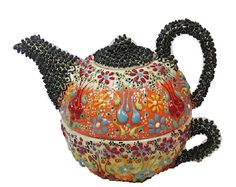 Handmade Ceramic Teapot with MugHandmade by BeyondTheSeaUS on Etsy