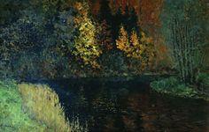 Isaac Levitan (1860-1900), Cours d'eau, Automne - 1885/86