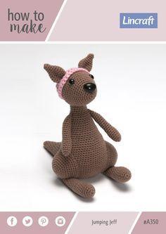 Free crochet pattern - kangaroo - Jumping Jeff A350