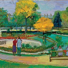 Robert H. Bizinksy, A parisian Park, 18x24. For more of Bizinsky's originals visit The Westport River Gallery. http://www.westportrivergallery.com/