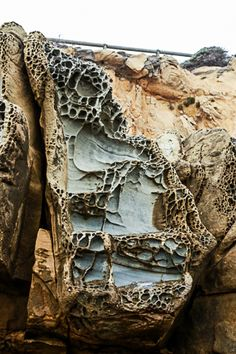 Tafoni formations at Salt Point State Park.