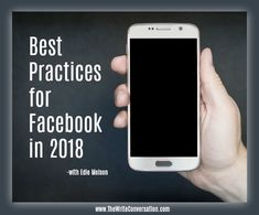 Best Practices for Facebook in 2018 #amwriting