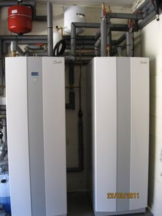 The Danfoss hot water cylinder and heating buffer tank for an NGPS  customer with a Danfoss air source heat pump installation in Ringwood, Hampshire.
