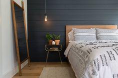 The Pick-a-door House   Season 4   Fixer Upper   Magnolia Market  Bedroom   Chip & Joanna Gaines   Waco, TX   Black Shiplap