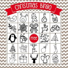 Printable Christmas Bingo Game - in English and Spanish - The Girl Creative