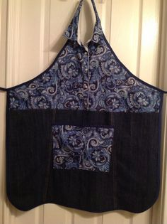 Interesting......Upcycled Recycled Repurposed Denim Apron by HookinUp on Etsy, $24.00