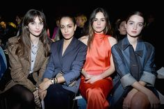 Eleonore Toulin, Sonia Rykiel, Front Row, Fall Winter, Women Wear, Leather Jacket, Jackets, Fashion, Studded Leather Jacket