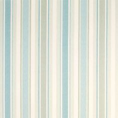 Awning Stripe Duck Egg/Pistachio Fabric #lauraashleyhome