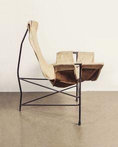 WILLIAM KATAVOLOS Sling T armchair, 1960's. jon w benedict. instagram.