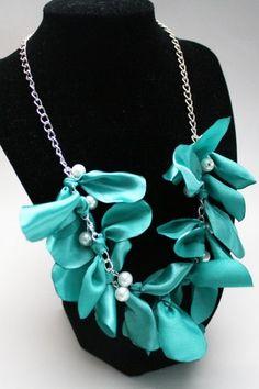 Make a Designer-Inspired Pearl and Ribbon Necklace