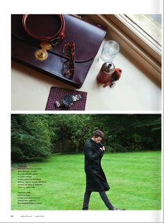 Marwood Checkerboard pocket square in Sphere Magazine