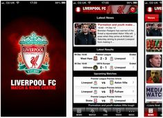 Liverpool FC watching TV, live Score Match & News Centre for iPhone, iPod touch, iPad and android.