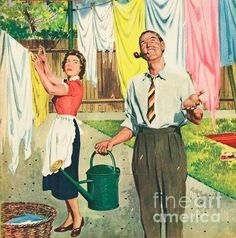 Funny Art, Vintage Art, Retro, Rain, Painting, Life, Laundry Detergent, Rain Fall, Painting Art