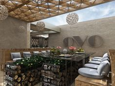 Exterior terrace for restaurant in Kuwait City, Kuwait - Design proposal and renders. Created for Lines Design.
