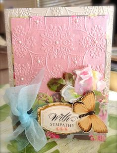 Beautiful Anna Griffin card with embossing
