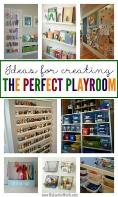 Toy Organization Playroom - Keeping toys organized, accessible, and looking great can be a huge challenge These are great ideas for how to create a functional playroom that also looks great . Playroom Design, Playroom Ideas, Kid Playroom, Playroom Decor, Garage Playroom, Playroom Flooring, Playroom Table, Kids Basement, Colorful Playroom