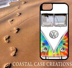 Colorful Tie Dye Volkswagen Bus iPhone Case by CoastalCaseCreations, $26.00