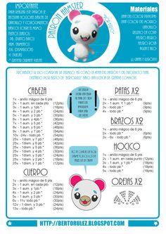 Patrones de amigurumis gratis paso a paso Filet Crochet, Diy Crochet, Crochet Crafts, Crochet Toys, Crochet Baby, Crochet Doll Pattern, Crochet Patterns Amigurumi, Amigurumi Doll, Hello Kitty Crochet
