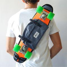 "22"" Penny skateboards carry bag travel backpack or similar – Grey by MONARK SUPPLY Penny skateboard, skate, skateboard, skateboards, cruisers, plastic skateboard, shoulder bag, skate backpack, penny,"