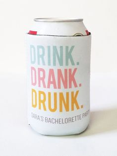 Pastel koozies for a bridal shower or bachelorette party