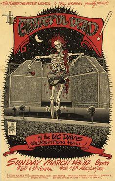 3/14/82 poster  Venue: Recreation Hall, University of California, Davis, CA  Artist: Jim Pinkoski