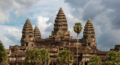 Angkor temples in Cambodia - took a test on this today in art history. Angkor Wat - the towers on top symbolize Cambodian kings!