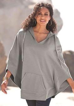 Hooded Fleece Poncho