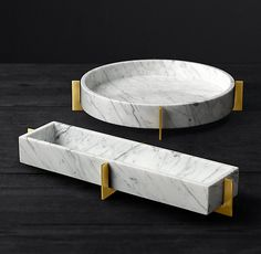 Mataro Marble and Brass Trough Collection - marble accessories - Plywood Furniture, Marble Furniture, French Furniture, Bathroom Furniture, Rustic Furniture, Furniture Design, Luxury Furniture, Furniture Ideas, Glass Furniture