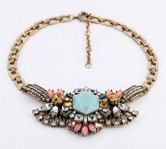 Gorgeous Rhinestone Bib Shourouk Style Necklace  - £25