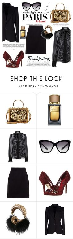 """""""Dolce&Gabanna"""" by nellieatelier ❤ liked on Polyvore featuring Dolce&Gabbana, H&M and Melissa"""