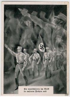 """SA - """"Sie marschieren im Geist in unseren Reihen mit"""" - S-o """"RP Nürnberg 1934"""","""