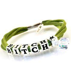 http://store.lovya.net/letters-from-your-heart-lovya/472-bracelet-bitch-with-swarovski-elements-crystal-cube-pendant-silver-version.html