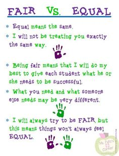 A great poster to use in the classroom for respecting differences!