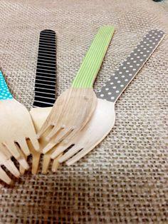DIY washi utensils