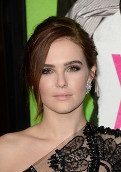 Zoey Deutch Lookbook: Zoey Deutch wearing Long Braided Hairstyle (29 of 37). Zoey Deutch sported a long braided hairstyle with an edgy twist during the 'Vampire Academy' premiere.