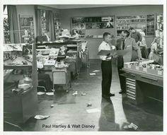 Walt at WED Enterprises... look at that room, working staff