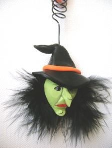 Wicked Witch Clay Ornament | AllFreeHolidayCrafts.com