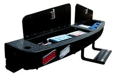 Outfit your truck camper with the Palomino Landing Pad bumper, Space Dock and Lock and Load SideKick