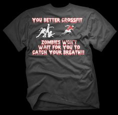 Crossfit Zombie's for Jonathan! Custom Halloween Zombies Mens Crossfit WOD Workout T Shirt | eBay