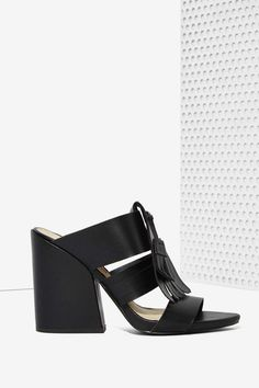 Vevey Vegan Leather Mule - Black | Shop What's New at Nasty Gal