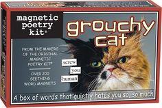 Homewares - Grouchy Cat Magnetic Poetry