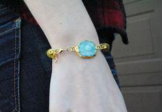 Aqua Druzy Bracelet