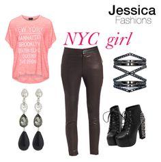 """New York girl"" by jessieluv05 on Polyvore featuring Replace, IRO, Eva Fehren and Oscar de la Renta"