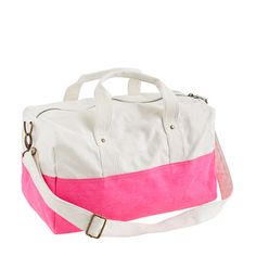 Canvas overnight bag - monogram shop - Girls' Girl_Special_Shops - J.Crew