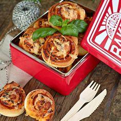 Matiga pizzabullar med härliga italienska smaker.